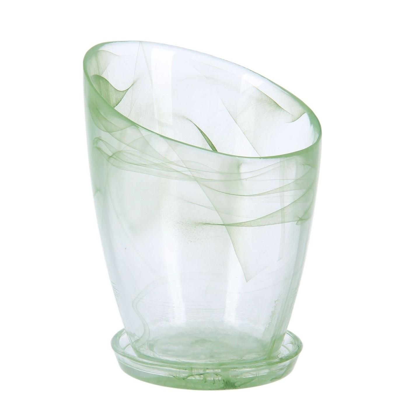 Кашпо Шерон зеленое диаметр 16,8 см