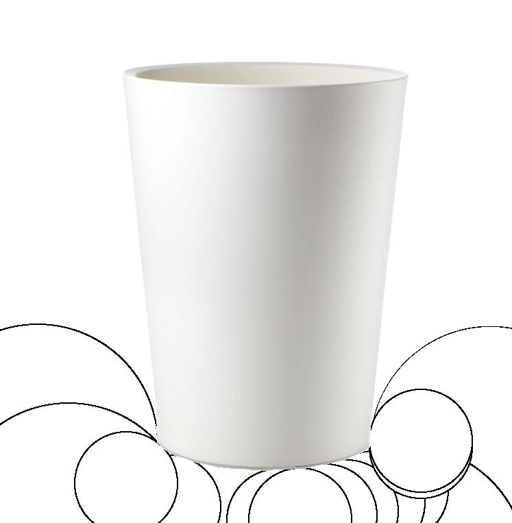 Кашпо белое 42 см