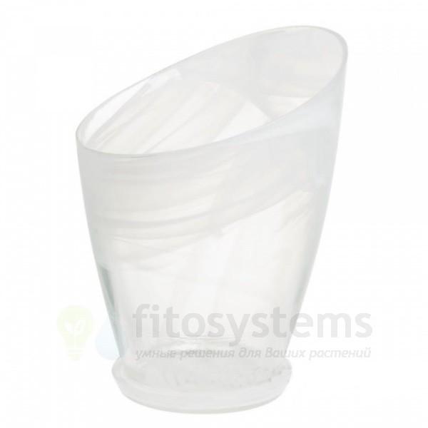 Кашпо Шерон белое диаметр 16,8 см