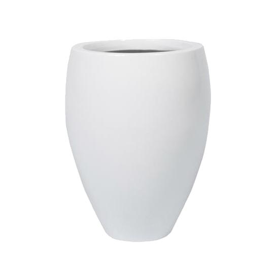 Кашпо белое 61 см