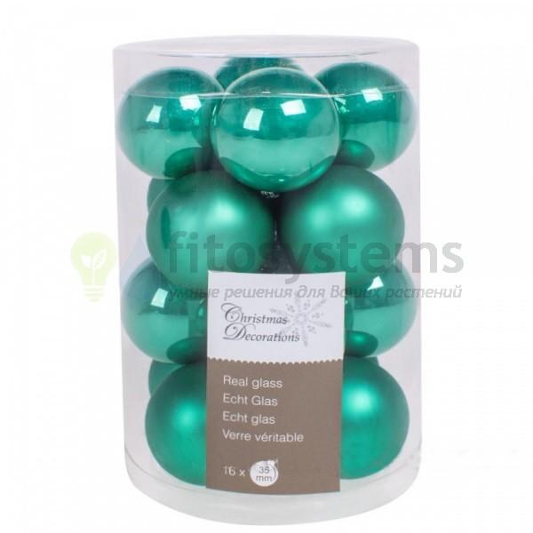 Набор 16 шт. мини-шариков Бирюзовый