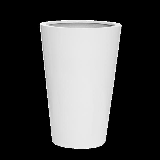 Кашпо белое 70 см