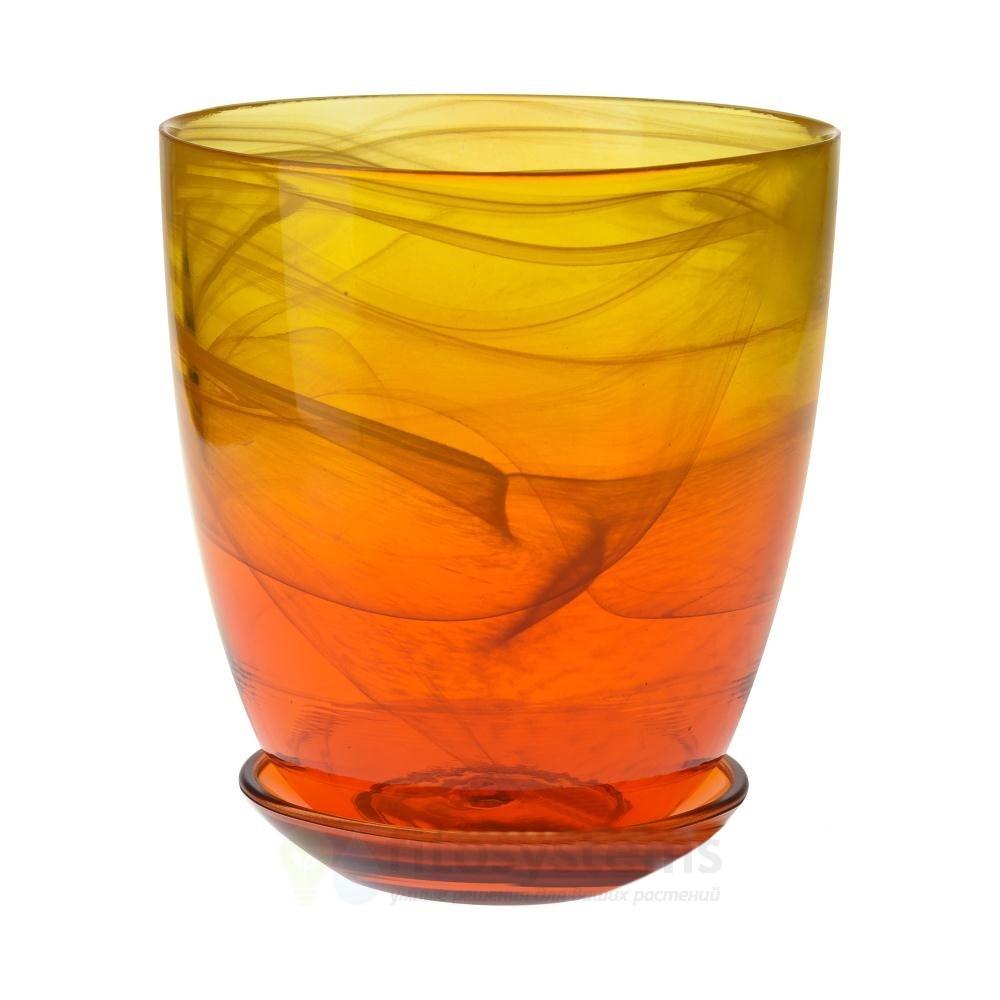 Кашпо Желто-оранжевое диаметр 14,5 см