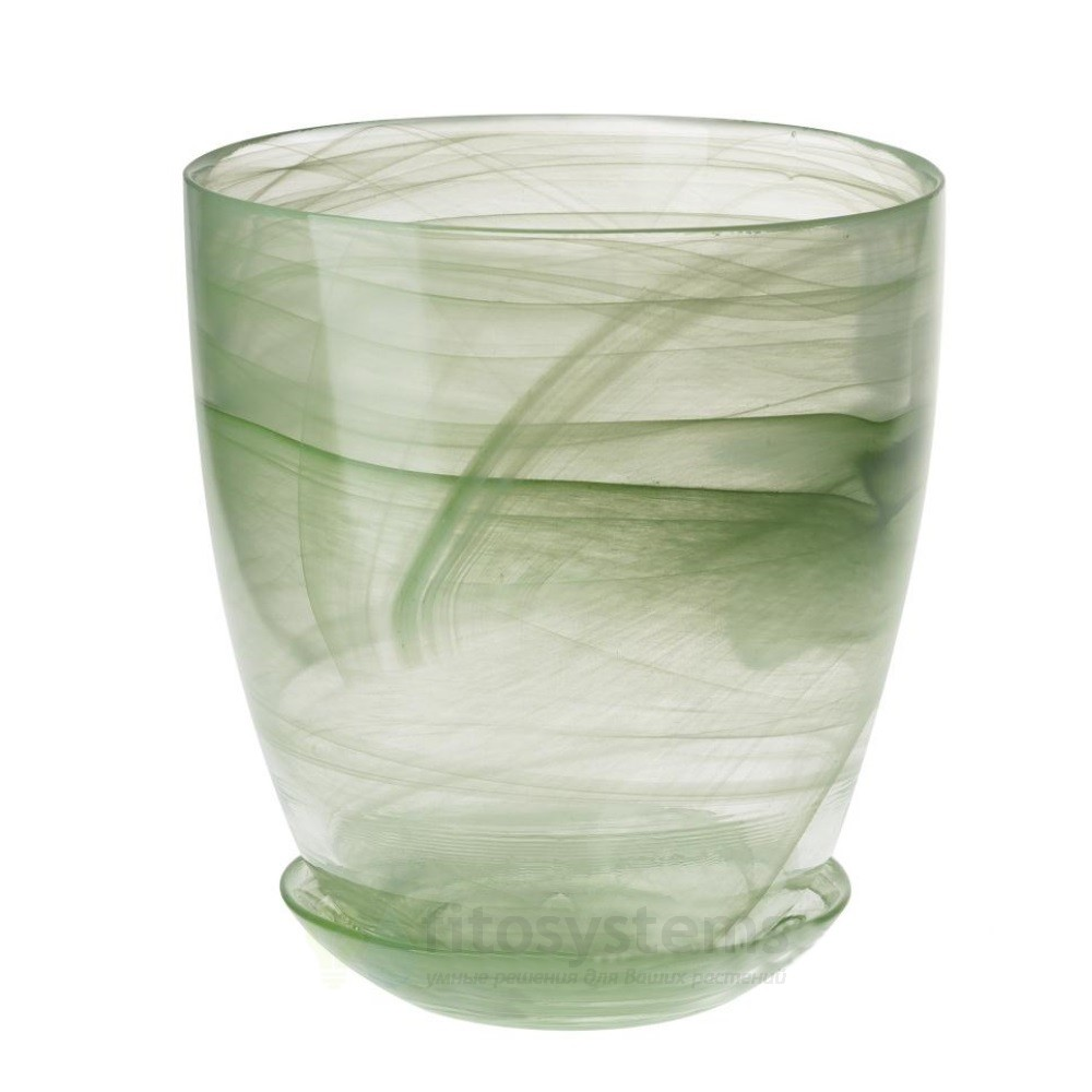 Кашпо Зелёное диаметр 15,5 см