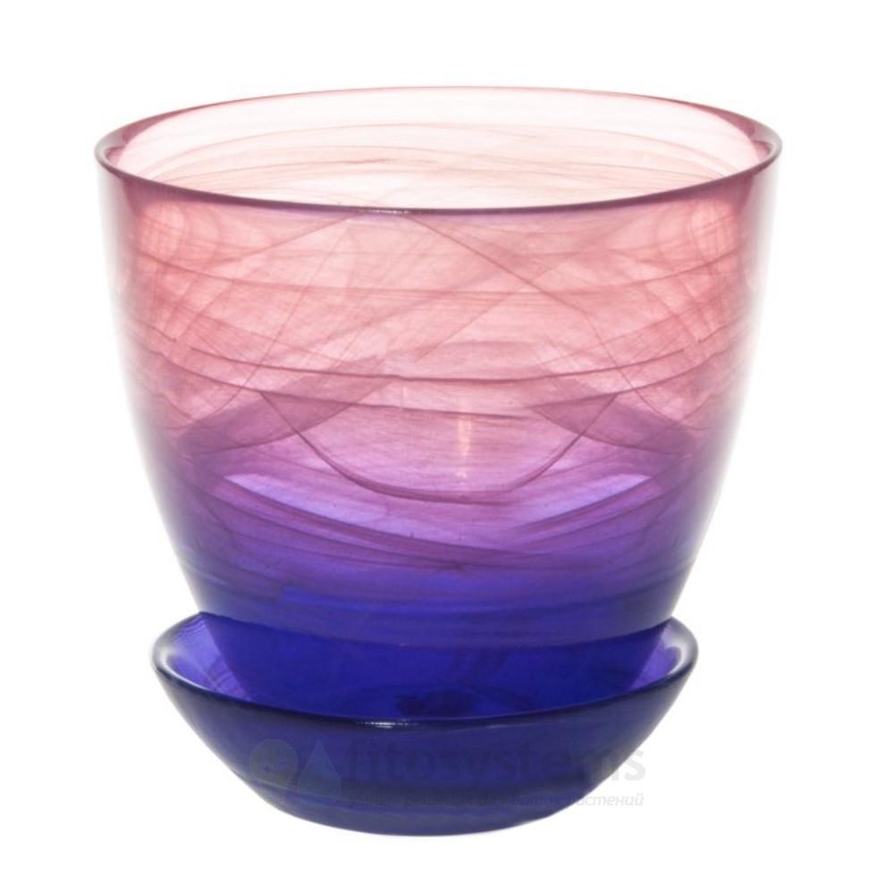 Кашпо фиолетово-розовое диаметр 14,5 см