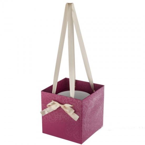 Коробка для цветов квадратная большая