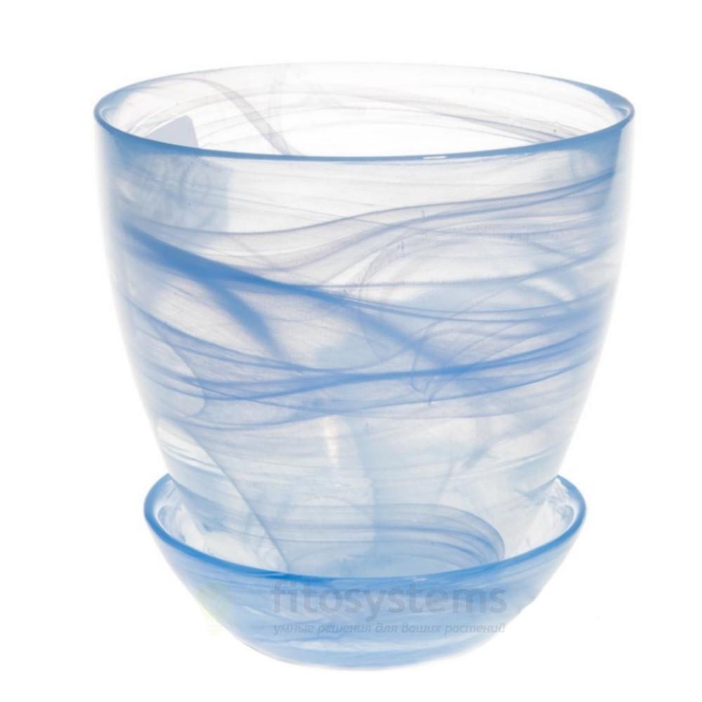 Кашпо Голубое диаметр 15,5 см