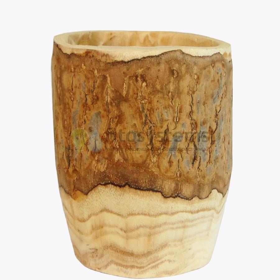 Кашпо Деревянный сруб 20 см