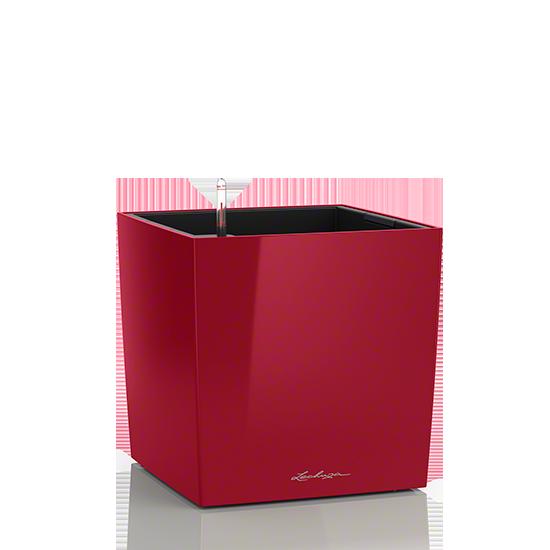 Кашпо Lechuza Cube 30 Красное