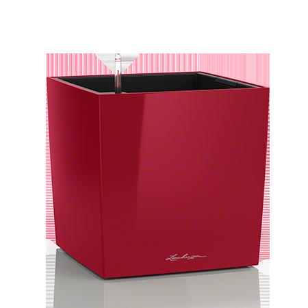 Кашпо Lechuza Cube 40 Красное