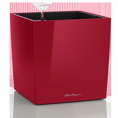 Кашпо Lechuza Cube 50 Красное