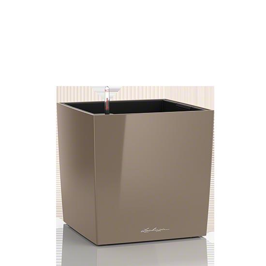 Кашпо Lechuza Cube 30 Серо-коричневое