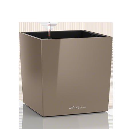 Кашпо Lechuza Cube 40 Серо-коричневое