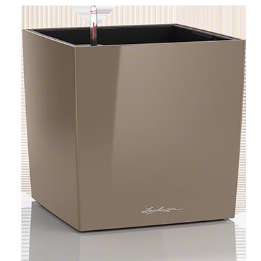 Кашпо Lechuza Cube 50 Серо-коричневое