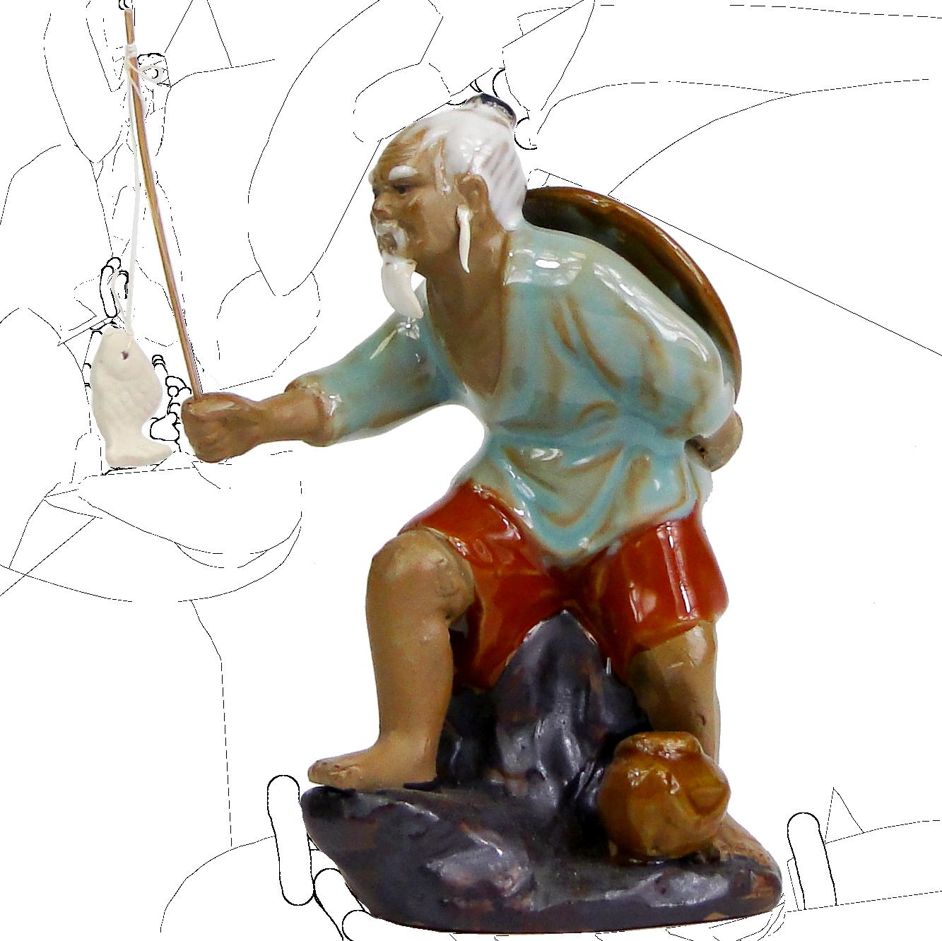 Керамическая фигурка «Рыбак»