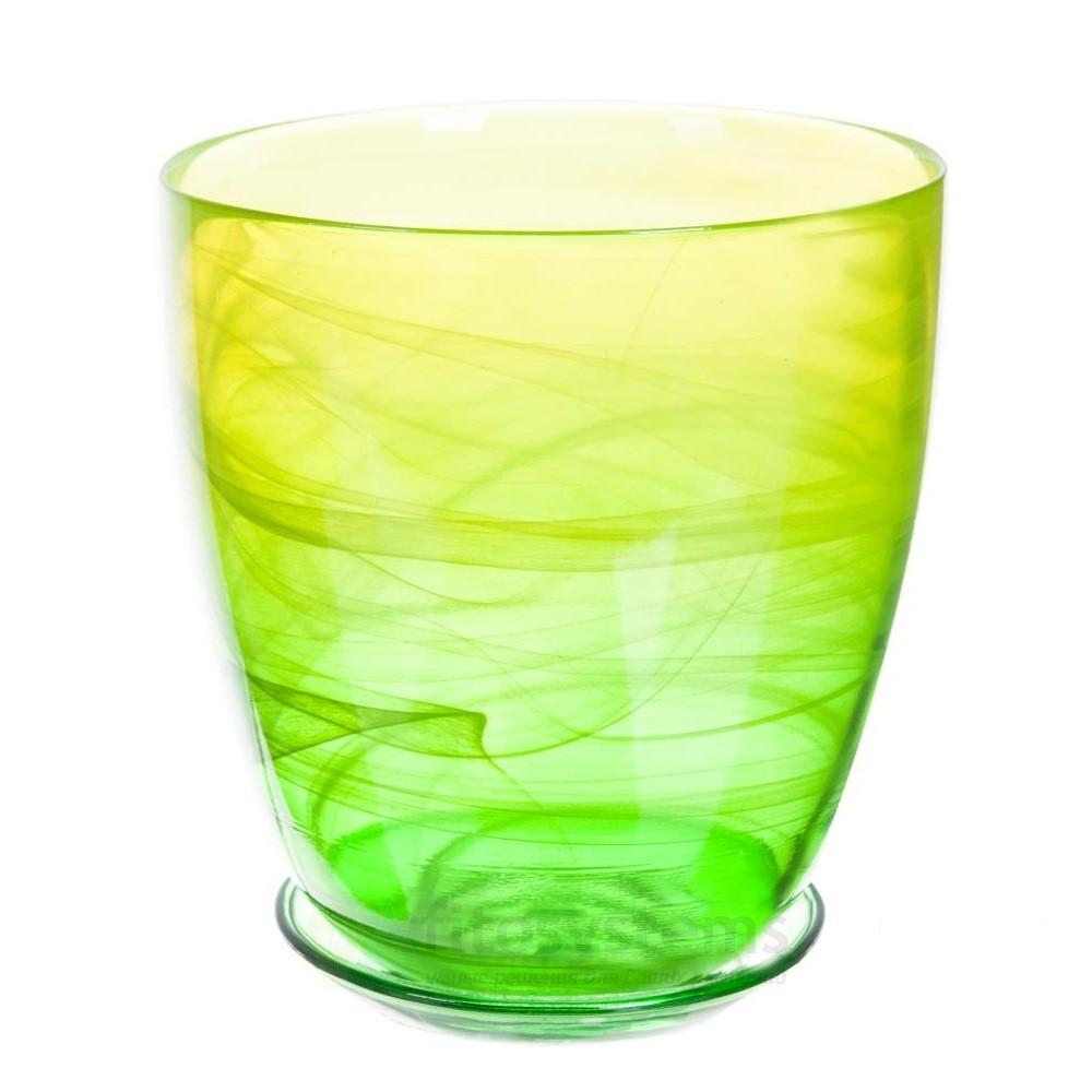 Кашпо Жёлто-зеленое диаметр 15,5 см