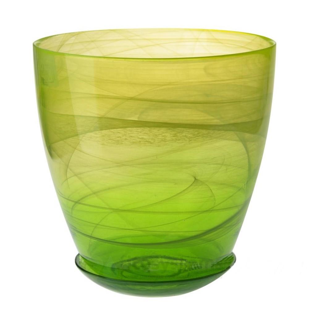 Кашпо Жёлто-зеленое диаметр 19,5 см