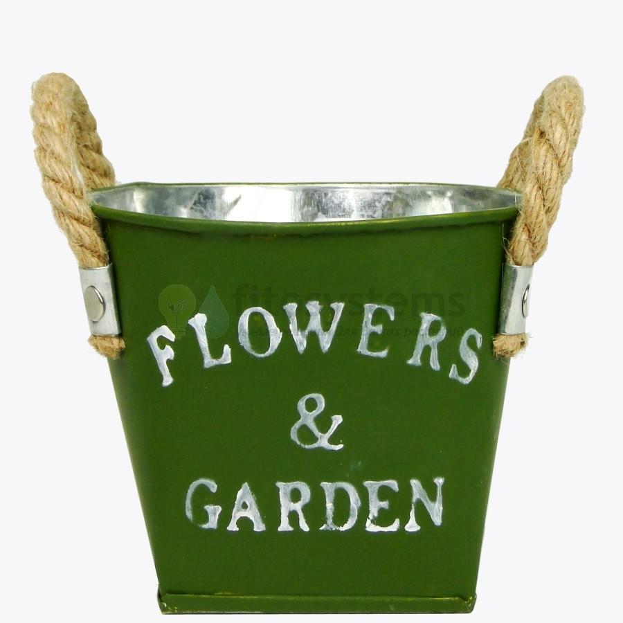 Ведерко металлическое «Flowers & Garden»