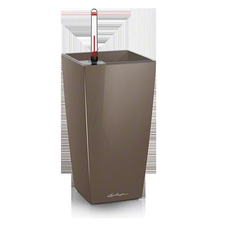 Кашпо Lechuza Maxi-Cubi Серо-коричневое