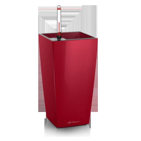 Кашпо Lechuza Maxi-Cubi Красное