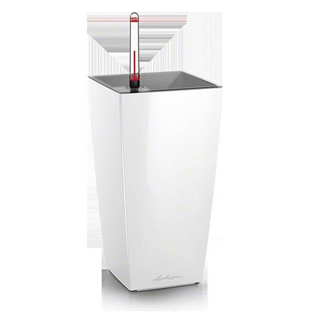 Кашпо Lechuza Maxi-Cubi белое