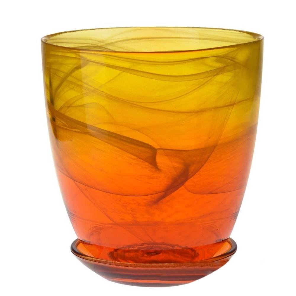 Кашпо Желто-оранжевое диам. 19,5 см