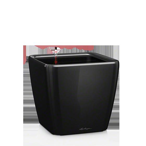 Кашпо Lechuza Quadro LS 28 черное