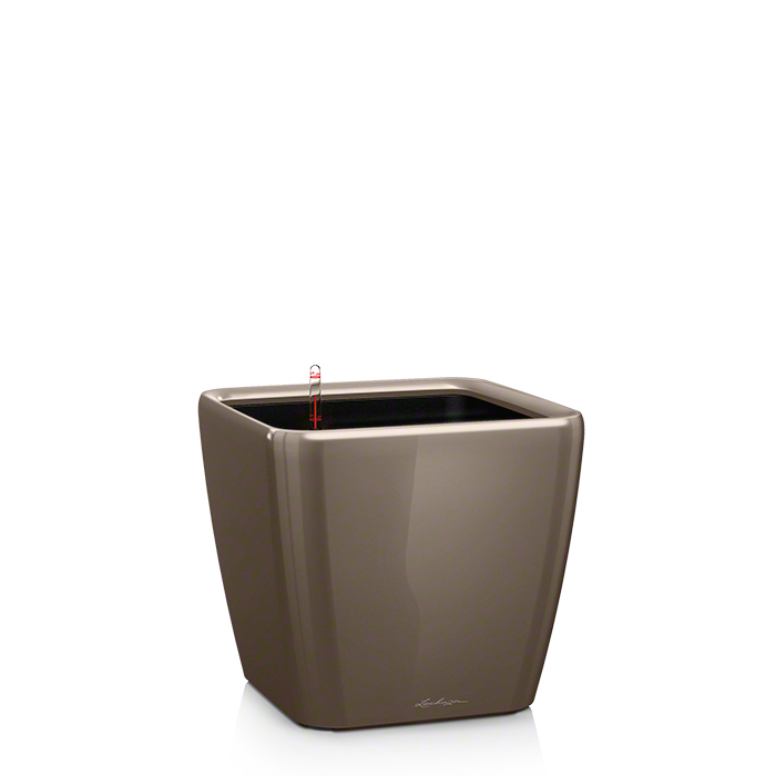 Кашпо Lechuza Quadro LS 21 Серо-коричневое