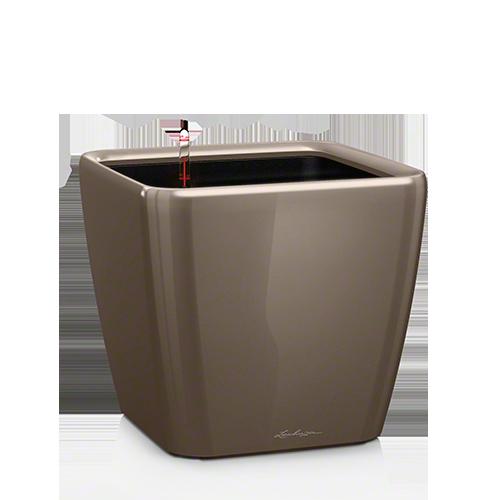 Кашпо Lechuza Quadro LS 35 Серо-коричневое