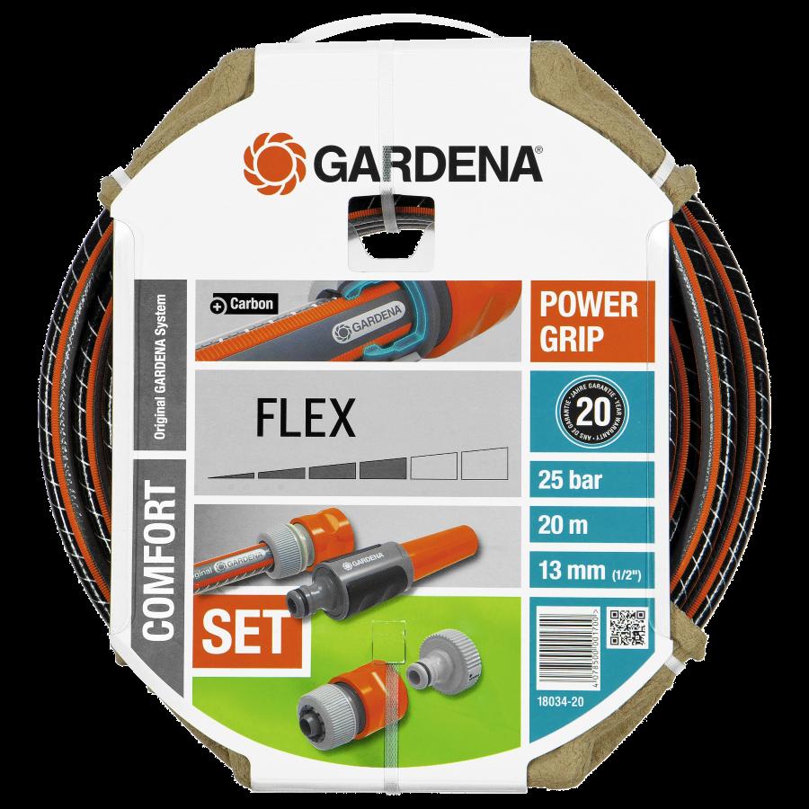 "Шланг GARDENA FLEX (1/2"") + фиттинги (18034)"