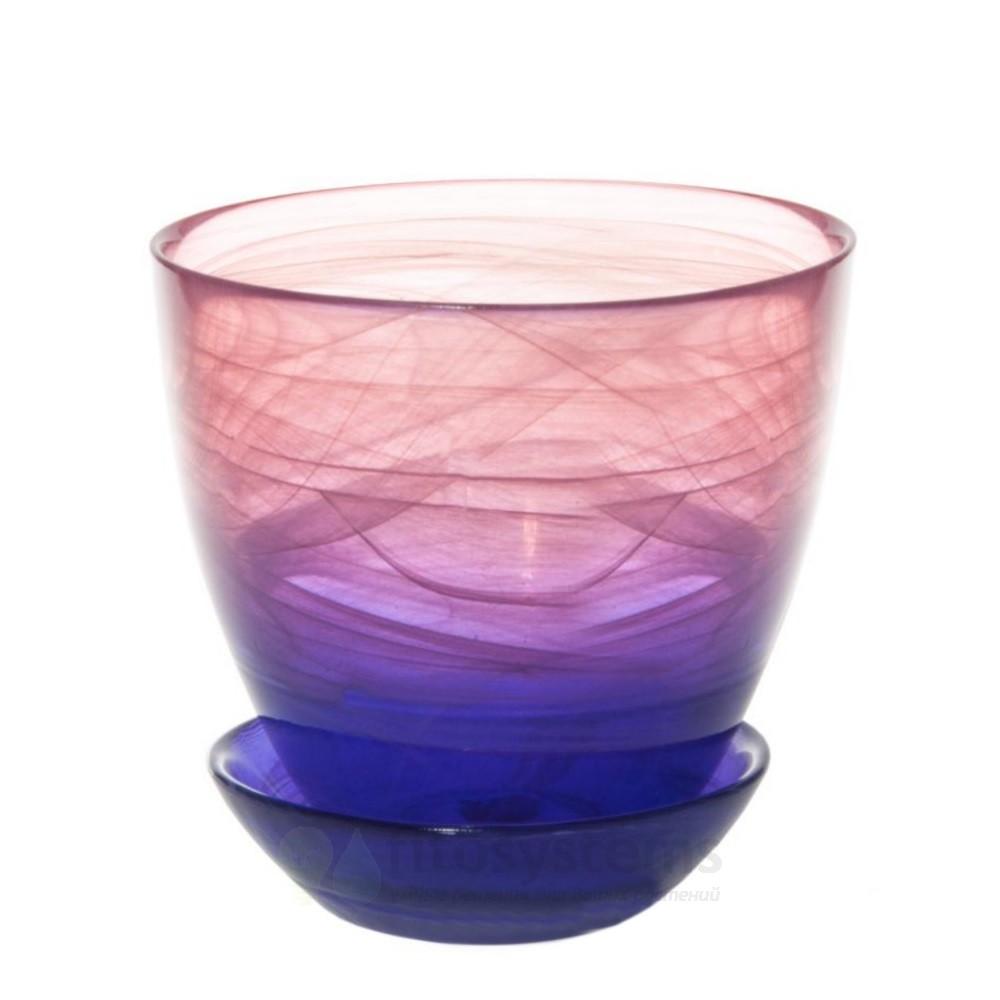 Кашпо Розово-фиолетовое D13 (93-025)